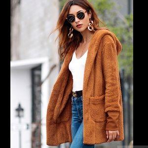 Jackets & Blazers - Faux Fur Hooded Coat